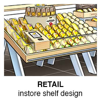 Instore Design: Cheese Department